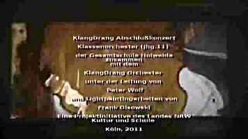 Videoscreen Abschlusskonzert