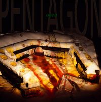 Mittelformatdia Bilderfolge open Pentagon, Serie Schneebrand, Lightpainting in den Schnee