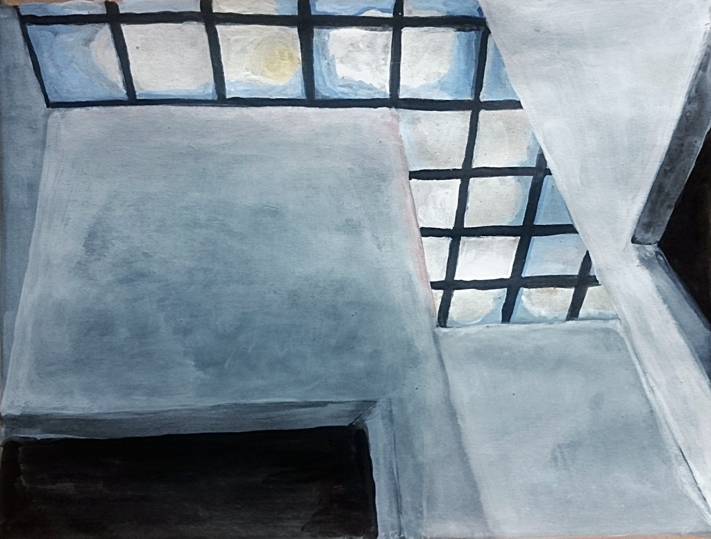 Malerei, Rohkarton mit Epoxyd