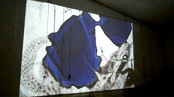 Videoscreen zu einem Video einer Lightpaintingperformance