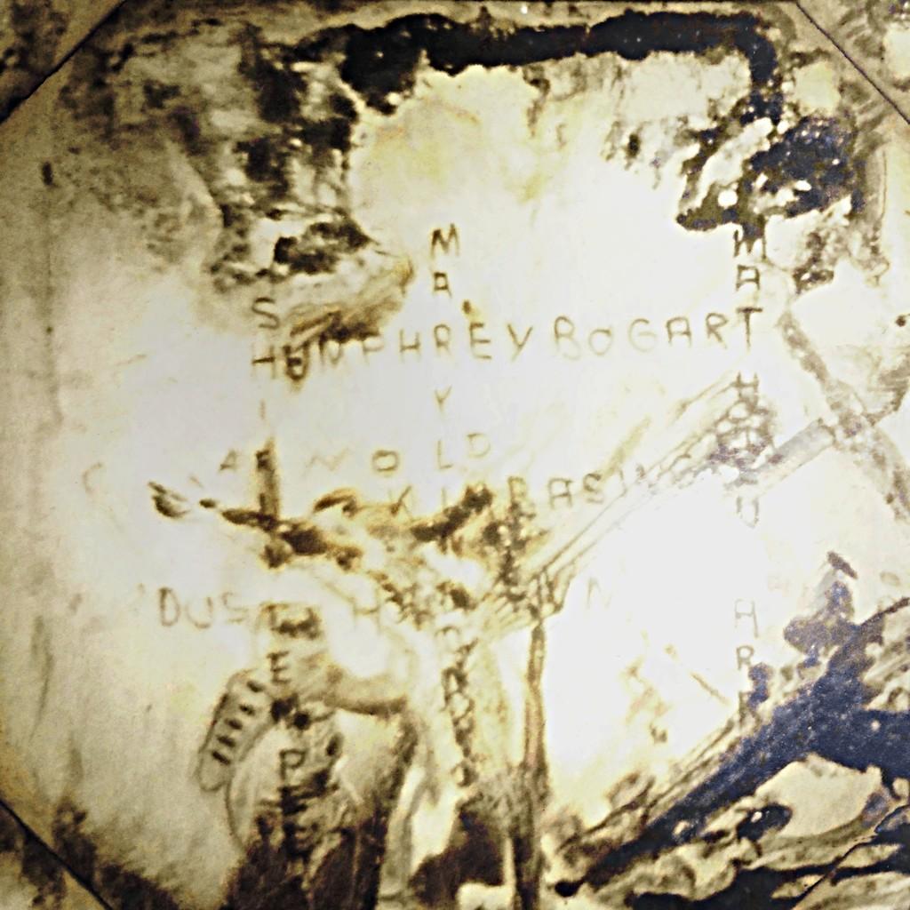 Kleinbildfoto einer Projektion