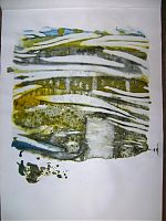 Skizzenblock mit Folienabdrücken